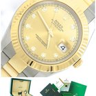 Rolex DateJust II Two-Tone 18K Gold Stainless 116333 Diamond 41mm