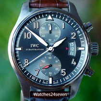 IWC Pilots Spitfire Flyback Chronograph Grey Dial Stainless...