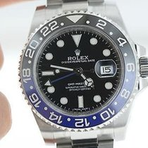 Rolex Mens Ceramic Gmt 2 Ii Blue Black Bruiser. Stainless...