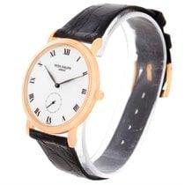 Patek Philippe Calatrava 18k Rose Gold Porcelain Dial Watch...