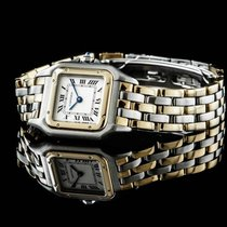 Cartier Panthere Lady Stahl / Gold 3 Reihen Gold