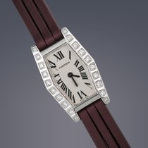 Cartier Laniere 18ct white gold and diamond quartz watch