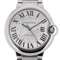 Cartier Ballon Bleu Automatic 36 Silver Guilloche