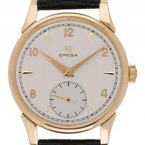 Omega kleine Sekunde 18kt Gelbgold Handaufzug Armband Leder...