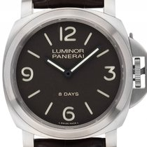 Panerai Luminor 44 Base 8 Tage Titan Handaufzug Armband Leder...