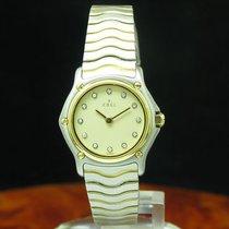 Ebel Classic Wave 18kt 750 Gold / Edelstahl Damenuhr Diamant...