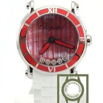 Chopard Happy Sport XL quartz floating diamonds pink 288524-30...