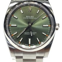 Rolex Oyster Perpetual Green Olive Dial 34mm