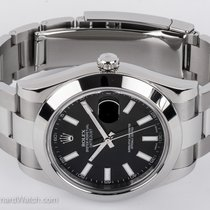 Rolex - Datejust II : 116300 black dial on heavy Oyster...