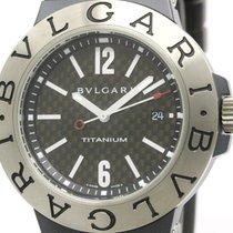 Bulgari Polished  Diagono Carbon Dial Titanium Automatic Watch...