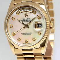 Rolex Day-Date President 18k Yellow Gold MOP Diamond Dial Mens...