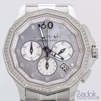 Corum Admiral's Cup Chronograph 38mm Stainless Steel Diamonds...