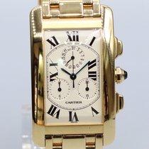 Cartier tank americaine  chronoreflex gold