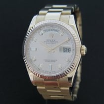 Rolex Oyster Perpetual Day-Date Rose Gold Diamond Dial