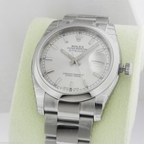 Rolex Datejust 36mm Silver Index Stick Oyster 116200 Box and...