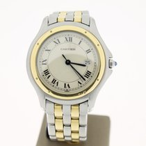 Cartier Cougar Steel/Gold 33mm Two Lines (BOX2000) MINT