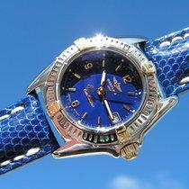 Breitling Callistino B 52045.1 Blue Dial Steel Gold Esfera...