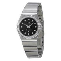 Omega Constellation Black Diamond Dial Ladies Watch 123.15.27....