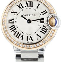 Cartier WE902079 Ballon Bleu Silver Dial 18KT Rose Gold Women...