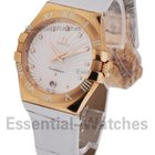 Omega Constellation Ladies - Rose Gold on Strap with White...