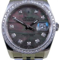 Rolex Datejust 116200 Diamond Dark Mother Of Pearl Dial 36mm...