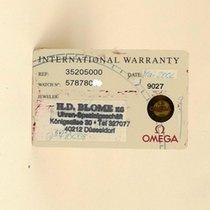 Omega Speedmaster Automatic Certificate Zertifikat Warranty