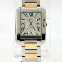 Cartier Tank Anglaise Steel and Rose Gold Large Model