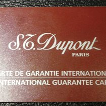S.T. Dupont vintage warranty card newoldstock