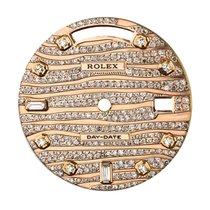 Rolex Day-Date 41mm Rose Gold Wave Design Diamond Set Custom Dial