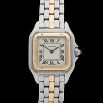 Cartier Panthere Single row Stainless Steel/18k Yellow Gold...