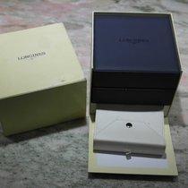 Longines vintage watch box blu leather complete