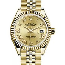Rolex Datejust 28 279178 Champagne Roman Fluted Bezel Yellow...