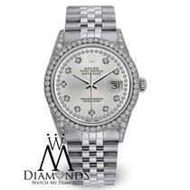 Rolex Watch Datejust 16234 36mm Silver Dial Diamond Bezel...