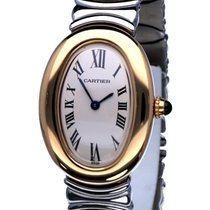 Cartier Baignoire Yellow Gold 18 Krt / Bracelet Gold Steel (1992)