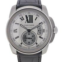 Cartier Calibre de Cartier W7100037 Stainless Steel Leather...