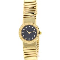 Bulgari Ladies  Tubogas 18K Yellow Gold Factory Diamond Dial...
