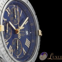 Breitling Windrider Crosswind Chronograph Blau Edelstahl/Gold...
