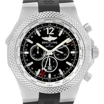 Breitling Bentley Chronograph Gmt Black Dial Mens Watch A47362...