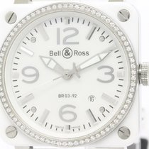 Bell & Ross Aviation Diamond Bezel Mop Dial Watch Br03-92...