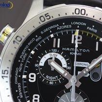 Hamilton Men's Khaki Pilot Chrono Worldtimer Steel on...