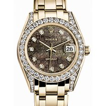 Rolex Pearlmaster 34 81158 Black Mother of Pearl Jubilee...