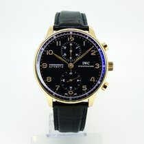 IWC Portuguese Rose Gold Chronograph IW371415 Black Dial