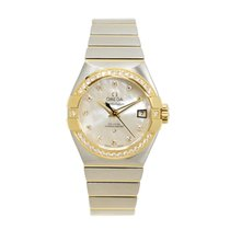 Omega Constellation Gold Steel Diamond Silver Automatic...