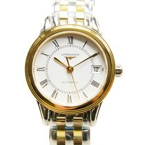 Longines Flagship Pvd Gold White Automatic L4.274.3.21.7