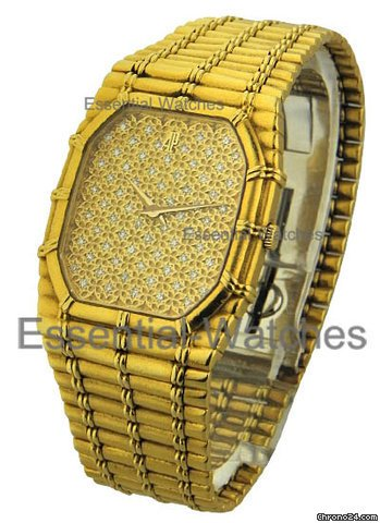 Audemars Piguet 1980s - Pave Diamond Dial - Gold Bracelet