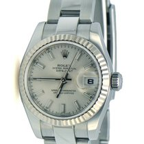 Rolex Ladies DateJust 18k Fluted Bezel Oyster Strap New Styl