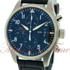 IWC Pilots Chronograph, Black Dial - Stainless Steel on Strap