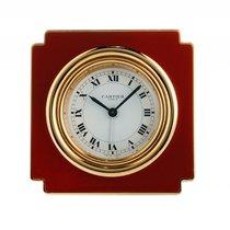 Cartier Reisewecker Tischuhr Gelbgold Spyder Red Web Handaufzu...