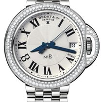 Bedat & Co No.8 Silver Dial Stainless Steel Diamond Bezel...