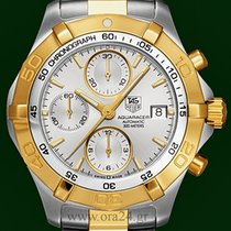 TAG Heuer Aquaracer Automatic Chronograph 41mm Gold Steel...